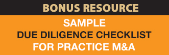 Due Diligence Checklist for Practice M&A